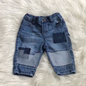 Baby BGosh patchwork jeans 3 months.
